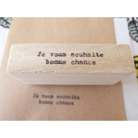 (版権フリー)フランス語 Je vous souhaite bonne chance 幸運を祈ります スタンプ はんこ