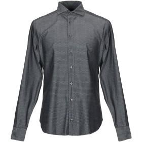 《期間限定セール中》EXIBIT メンズ シャツ グレー M コットン 100%