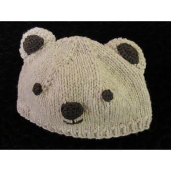 ベビーニット帽子 クマさん