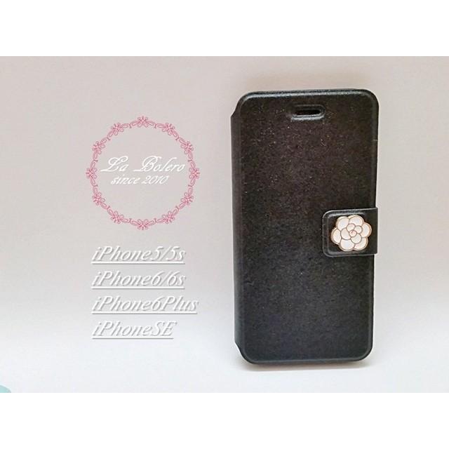 3376abccdf 【iPhone全機種】上品なカメリアモチーフのiPhoneケース(ブラック)アイフォン