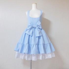 ce4916407881b 子供向けのハロウィンコスチューム風のドレス 膝丈ドレス 水色ドレス ...