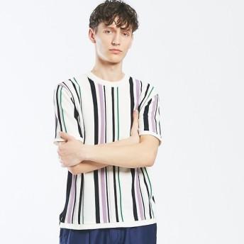 [マルイ]【セール】ハイゲージマルチストライプニットTシャツ/アバハウス(ABAHOUSE)