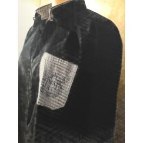 ◆受注生産◆ユニセックスで着られるモノトーンカラー ファスナーシャツ 〈fastener shirt〉