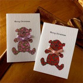 CHRISTMAS MINI CARD - NOEL BEAR 4PC SET-