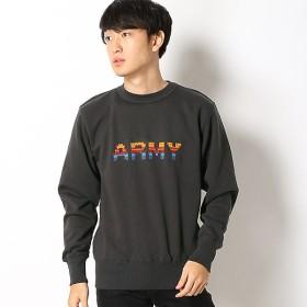 [マルイ]【セール】裏起毛刺繍クルースウェット(ARMY)/クリフメイヤー(メンズ)(KRIFF MAYER)