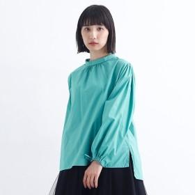[マルイ] リボンデザインスタンドカラーコットンブラウス/メルロー(merlot)