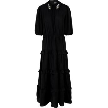 《セール開催中》VIVETTA レディース ロングワンピース&ドレス ブラック 38 レーヨン 69% / シルク 31% PINEROLO