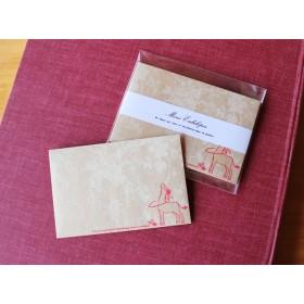 ミニ封筒『ロバフラフープ 横型【うさフラ】』