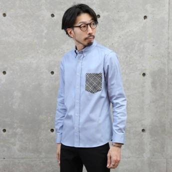 [マルイ]【セール】ツィードポケットOXBDシャツ/メンズメルローズ(MEN'S MELROSE)