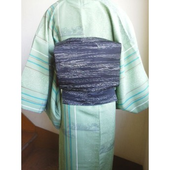 作り帯★二部式軽装帯★染名古屋帯リメイク