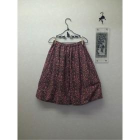 **SALE**猫とお花のふんわりバルーンスカート