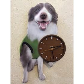 ワンちゃん時計 3D リアル 立体 オーダー ペット 時計 似顔絵 愛犬 犬グッズ 壁掛時計 かわいい時計 似顔絵時計 立体時計 手作り時計 送料無料 プレゼント サプライズ