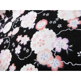 【50110】【凹凸プレス】 桜の花びら ~落ち着いた風情~ 【黒