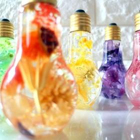 フラワーハーバリウム 電球ボトル選べるカラー ~見つめているだけで癒される~ 母の日ギフト クリスマスプレゼント