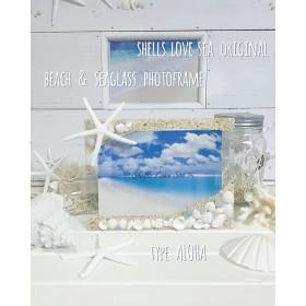 Beach & SeaGlass フォトフレーム 【aloha】