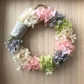 母の日紫陽花のリース