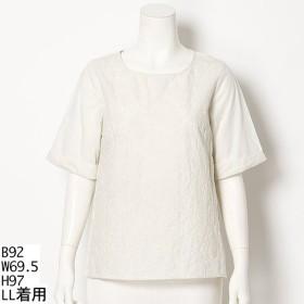 [マルイ]【セール】【大きいサイズ】【L-5L】刺繍切替チュニック/エムビー(大きいサイズ)(MB)