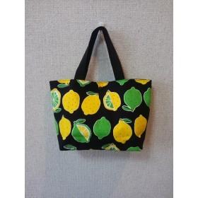 レモン柄 小さめトートバッグ