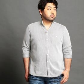 [マルイ]【セール】<大きいサイズ>イタリアンカラー7分袖カットシャツ/ハイダウェイ(大きいサイズ)(HIDEAWAYS)
