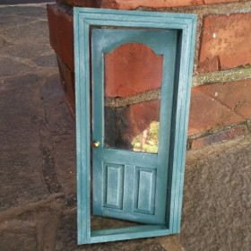 玄関 ドア 扉 ミニチュア ドールハウス 家具 部屋 カフェ 庭 ガーデニング アンティーク