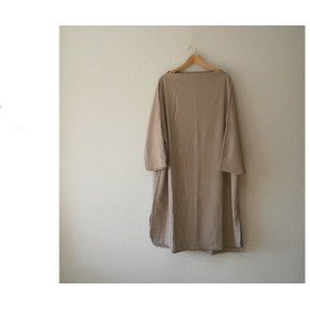 ★en-en秋冬ボトルネック・ドルマンワンピース八分袖オーク1685