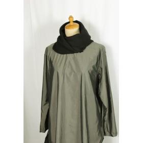 195 ウール手織りマフラー黒