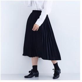 [マルイ] 光沢ベロアプリーツスカート/メルロー(merlot)