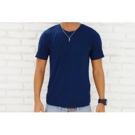 メンズビスコースアースTシャツ<ネイビー>Sサイズ