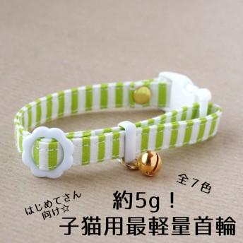 【子猫用】かるーい!初めての子猫用首輪(ソーダカラー・全7色)