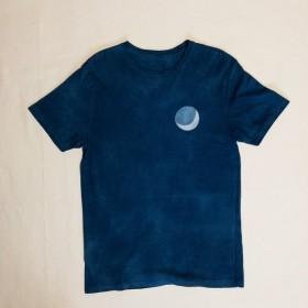 藍染 - オーガニックコットンT BLUE MOON