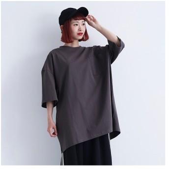 merlot メルロー ビッグシルエットTシャツ1418