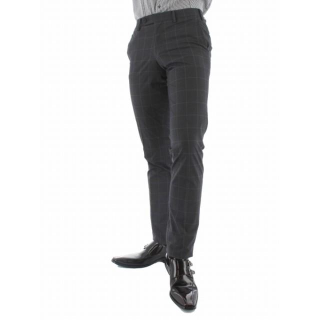 [マルイ]【セール】COOLMAX ノータックウィンドペン柄ストレッチスラックス スリムフィット/タカキュー(TAKA-Q)