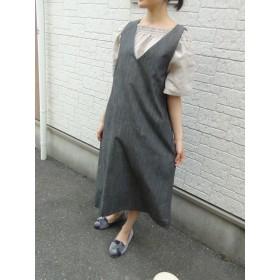受注製作 ダンガリーデニムのジャンパースカート