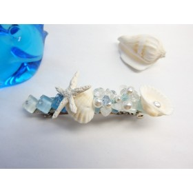 マーメイドの落とし物、貝殻のバレッタ