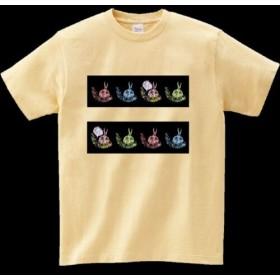 可愛い あっぷん キャラクター Tシャツ 色ナチュラル サイズS.M.L