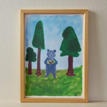 森のくまさん。インテリアポスター