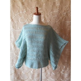 鎖編みメインのプルオーバー