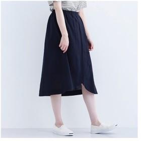 [マルイ]【セール】リネン混フロントクロスフレアスカート1550/メルローイキュー(merlotIKYU)