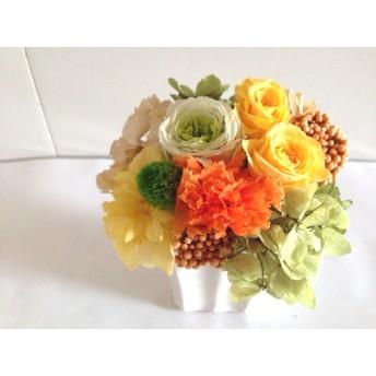 明るいビタミンカラーのアレンジ Clement(クレマン) プリザーブドフラワー 花