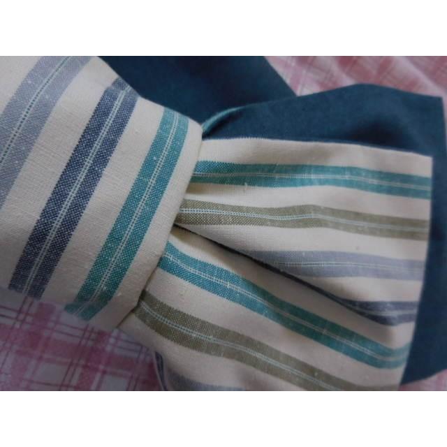残り1点 爽やか色の半幅帯・浴衣帯~リバーシブル~