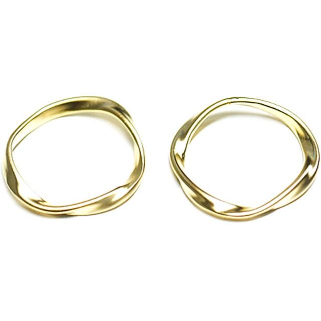 77c968697ff3e0 再販【2個入り】メビウスの輪~マットゴールドチャーム、パーツ 通販 ...