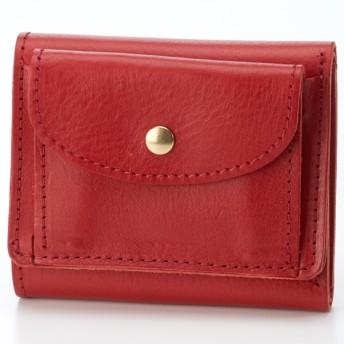 [マルイ] 【日本製】ミニ財布 イタリア製牛革3つ折りミニウォレット/ペルケ(perche')