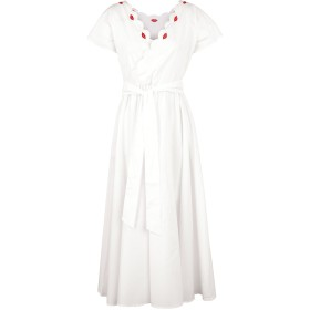《期間限定セール開催中!》VIVETTA レディース 7分丈ワンピース・ドレス ホワイト 36 コットン 97% / ポリウレタン 3% OLBIA