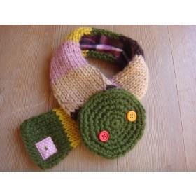 Sold ou いも虫ちゃん手編みマフラー