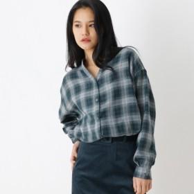[マルイ]【セール】釦スキッパーチェックシャツ/オゾック(OZOC)