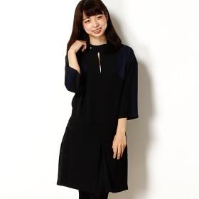 [マルイ] ラコステ カラーブロッククレープドレス(七分袖)/ラコステ(LACOSTE)
