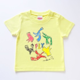 FLY ベビー&キッズ Tシャツ 90 100 110 Lemon