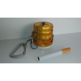 携帯灰皿(広口空缶&金コーヒー缶他リメイク・金蓋) 小物入れにもOK