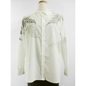 長袖ホワイトシャツ(羊歯の葉)