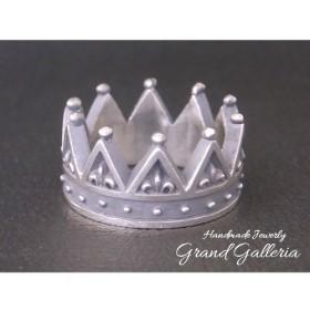 シルバー925 王冠 クラウンリング Lサイズ Grand Galleria